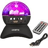 Onite® ミラーボール カラーボールライティング 充電式 スピーカー スタンド ステージライト 舞台照明 RGB LEDライト 回転ライト TFカード 音楽再生 ワイヤレス ブルートゥース オーディオ Bluetooth オーディオレシーバー 無線スピーカー Mp3プレーヤー FMトランスミッター Iphone/Ipad Mini/Ipad 4/3/2/Itouch/Samsung/LG/Motorola/ HTC/Nexus スマートフォン対応 (ブラック)