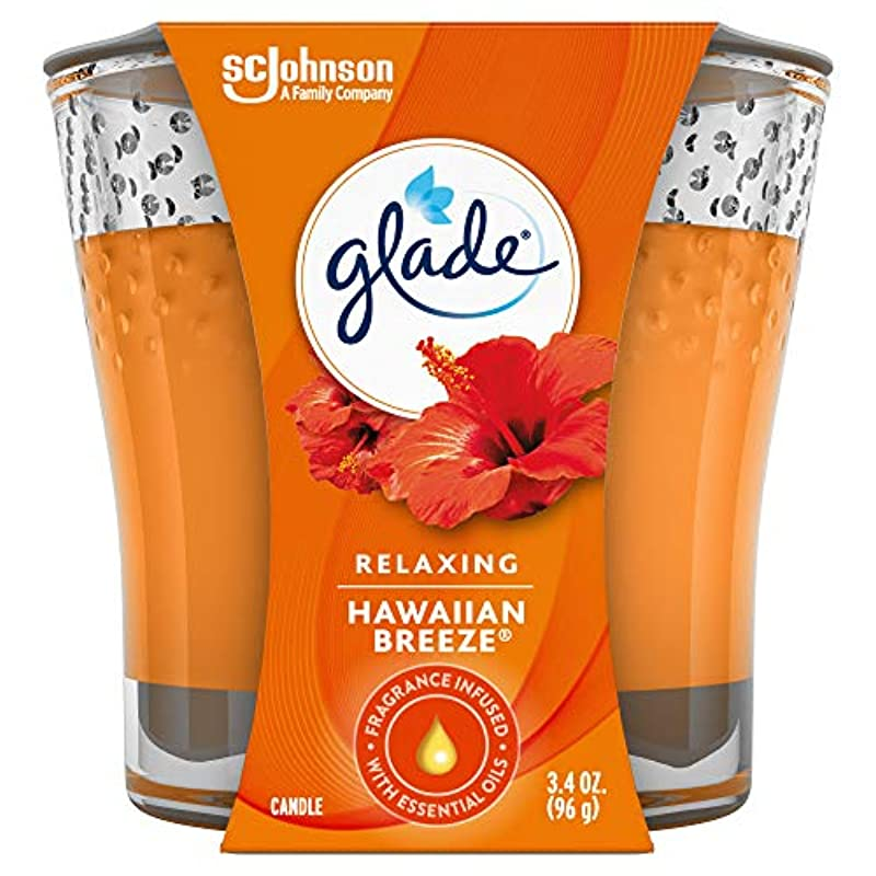 ハブブ科学者超音速Glade Jar Candle Air Freshener, Hawaiian Breeze, 3.4 Ounce by Glade