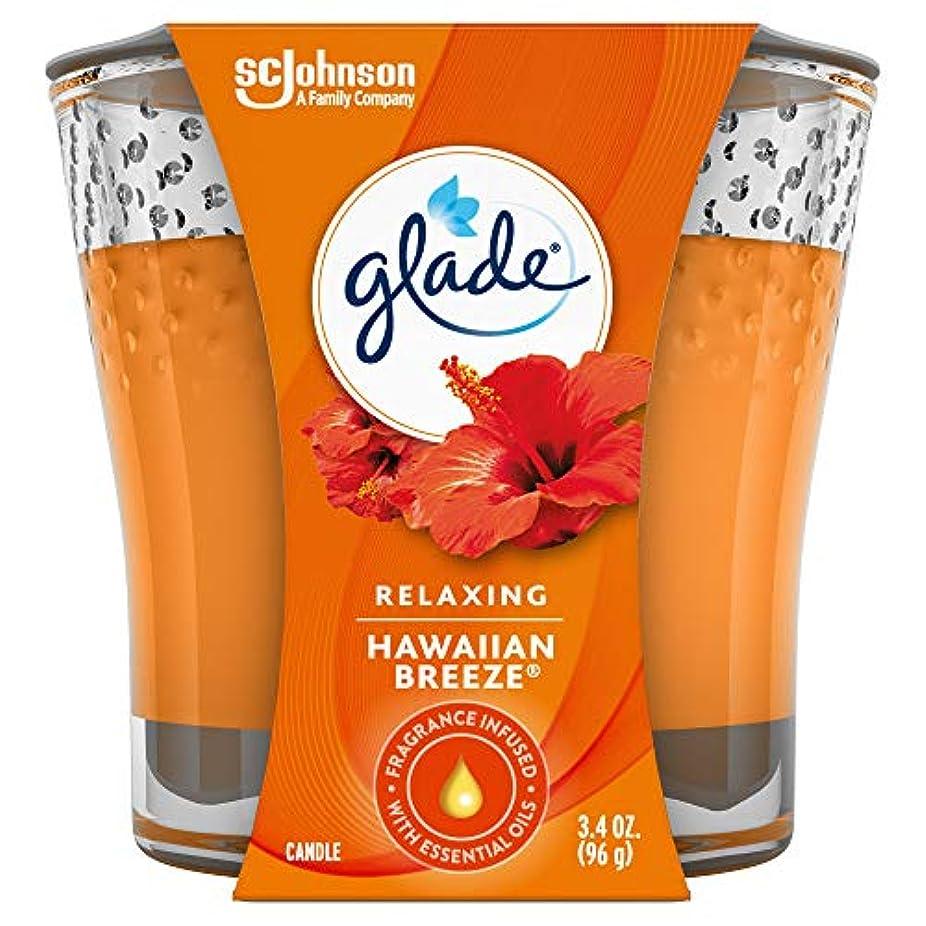 カナダコロニー汚れたGlade Jar Candle Air Freshener, Hawaiian Breeze, 3.4 Ounce by Glade
