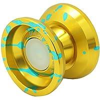 Magic Yoyo Alloy Aluminum Professional Yo-yo Yoyo Toy (K9-golden blue) [並行輸入品]
