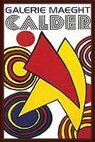 ポスター アレクサンダー カルダー トライアングル & スパイラル 額装品 ウッドベーシックフレーム(ブラウン)