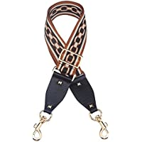 """Myathle 2"""" Wide Purse Strap Replacement Guitar Style Colorful Canvas Adjustable 35""""- 51"""" Crossbody Bag Straps for Handbags"""