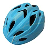 自転車 ヘルメット ジュニア スタンダードモデル Mサイズ 52~56cm ラインブルー 46406