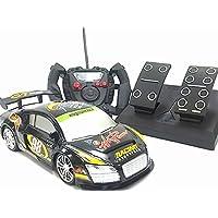 アクセルドライビングカー◇ペダル付きコントローラーラジコンカー/アウディR8レーシングカータイプ