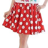 ドットスカート フレアスカート ドット フレア スカート 水玉 赤 ハロウィン ミニー ミニーマウス ディズニー ツインコーデ 大人 大人用 ダンス 衣装 Mサイズ レッド