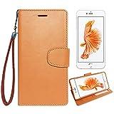 【 shizuka-will- 】Apple iPhone6 iPhone6S 専用 手帳型 シンプル ケース カバー ストラップ付 クリアポケット カード収納あり ( キャラメルブラウン ) iPhone6 iPhone6S docomo au softbank スマホ ケース