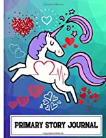 Primary Story Journal: Dotted Midline and Picture Space - Grades K-2 School Exercise Notebook - Pretty Unicorn - Kids Composition Books,