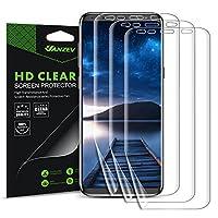 Vanzev Galaxy S8 フィルム 全面 ギャラクシー S8 液晶保護フィルム 耐指紋 耐衝撃 高透過率 高感度タッチ 浮かない 超薄 Samsung Galaxy S8 対応 簡単な貼り付け (TPU保護フィルム3枚)
