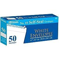 BAZIC # 10self-sealホワイト封筒( 50/パック、ケースパックof 24
