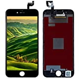 For iPhone 6S Plus フロントパネル 液晶パネル 交換 タッチパネル LCD 高品質 タッチパネル ディスプレイ 受話器の防塵ネット フロントカメラプラスチックホルダー (ブラック)
