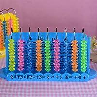 Tuersuer 早期子供用 おもちゃ 9ライン 計算機 プラスチック アバコス 複数のテーブル付き ブルー