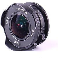 (バシュポ) Pixco CCTVレンズ 超広角8mm f/3.8 魚眼レンズ マイクロフォーサーズ対応(Micro4/3)+ Cマウントアダプタ