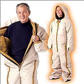 【ワイドシステム暮らしの幸便】動けるあったか寝袋 「軽くて暖かいホロファイバー入り中綿1.2kg使用!着たままで動けてホッカホカ!」