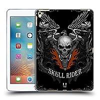 Head Case Designs メタル・リアルム スカル・バイカーズ ソフトジェルケース iPad Pro 9.7 (2016)