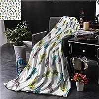 最高の毛布現代の抽象的なパターンパイナップルマシンウォッシュ72 x 54インチ 150X200