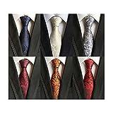 LOLONG メンズ ネクタイ6本セット 結婚式 ビジネス 就活 カジュアル (Style-16)