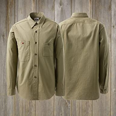 Voyage by Waste (Twice) Mountain Pocket Work Shirt w/Big Yank 142: Khaki