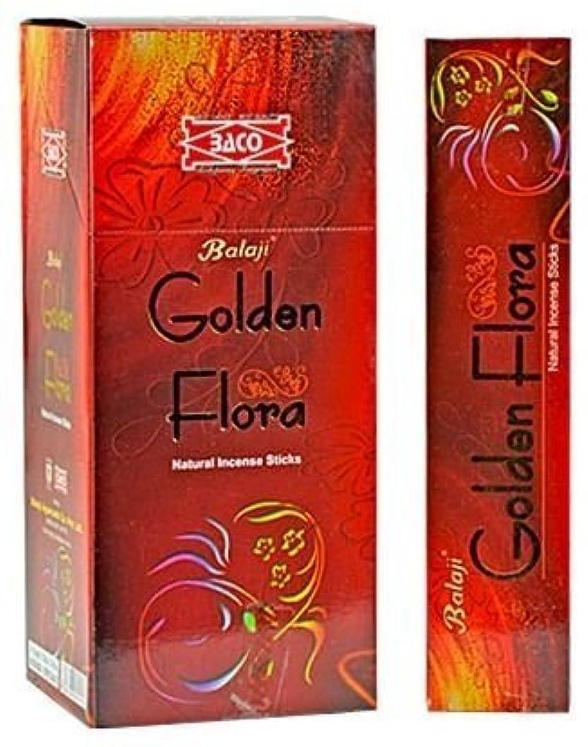 アシスト前置詞貫通するGolden Flora – Natural Incense Sticks ( 12パックof 15 Sticks各)