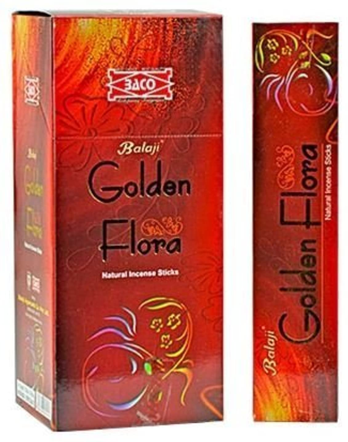 慢な古風な野ウサギGolden Flora – Natural Incense Sticks ( 12パックof 15 Sticks各)