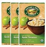 【海外直送品】【3個セット】Nature's Path Organic Hot Oatmeal Apple Cinnamon - 8 Packets入り アップルシナモン オートミール