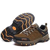 [ファイン・ショップ] トレッキングシューズ メンズ 滑りにくい 防水 通気性 軽量 ローカット オールシーズン カジュアル 登山靴 ハイキングシューズ アウトドアシューズ スニーカー ウォーキングシューズ キャンプシューズ カーキ 26.0cm