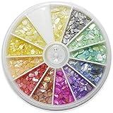 シェルストーン 11色セット 回転スライドケース入り /11color+アイボリーのみ1色分プラス