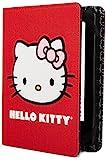 【Kindle(第7世代), Kindle Paperwhite カバー】 ハローキティ?ポルカドット柄  レッド