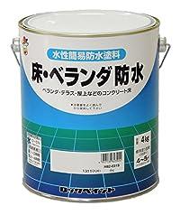 ロックペイント 水性床・ベランダ防水用塗料 グレー 4Kg H82-0319-02