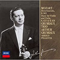 Arthur Grumiaux - Mozart: Divertimento K.563. Duets [Japan LTD CD] UCCD-9828 by Arthur Grumiaux