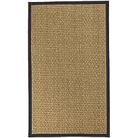 NaturalAreaRugs バスケット織りシーグラスエリアラグ, 3' x 5', ブルー 20950