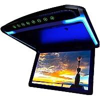 高画質12.1インチデジタルフリップダウンモニター LEDバックライト液晶 HDMI MicroSD対応 12V専用[F1230BH]