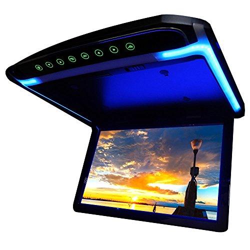 高画質12.1インチデジタルフリップダウンモニター LEDバックライト液晶 HDMI MicroSD...