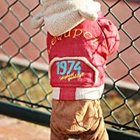 Elvoo 犬の服テディ中小犬の秋と冬の服チワワムクドリフレンチブルドッグペット服潮ブランドプラス厚いビロードの服4人の衣類の服装衣料品衣服衣服togペット (Color : Red, Size : L)