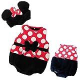 Disney ディズニーベビー服 ミッキー&ミニー なりきり 新生児ロンパース (50-60cm/ミニー)