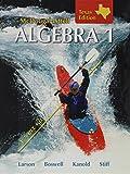 Algebra 1 Grades 9-12: McDougal Littell High School Math Texas (Holt McDougal Larson Algebra 1)