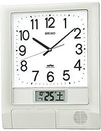 セイコー クロック 掛け時計 電波 アナログ プログラム機能 カレンダー 液晶表示 銀色 メタリック PT201S SEIKO