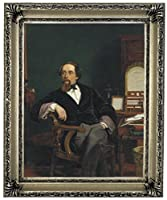 チャールズ・ディケンズの1859年の歴史的美術画家 - William Powell Frith額入りキャンバスプリント11 x 14インチシルバーギャラリー