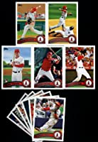 2011Topps Los Angeles Angels Completeシリーズ1& 2チームセット。23カードwith Weaver、Kendrick、ハンター、Trumbo Rookie、ハンク・アナゴルーキー、ハーレン、Vernon Wells