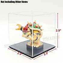 Acrylic Display Case/Box (3.9x3.9x3.9 Inches) Cube Perspex Dustproof ShowCase For Amiibo Figures Baseball by Tingacraft [並行輸入品]