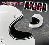即納!! DAMMTRAX AKIRA (ダムトラックス アキラ) ヘルメット【ホワイト / L size】フルフェイスヘルメット レトロモダン  CB750FOUR CBドリーム750 ホンダ VMAX VT1300CX ハーレー・ダビッドソン SR400 等