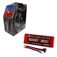 ヴェノム30C 2s 5000mAh 7.4VハードケースLipoバッテリーwith Uni Plug andヴェノムPro Duo 80W x2デュアルAC / DC 7Aリポ、ニッケル水素RCバッテリーバランス充電器コンボ