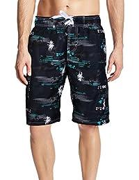 APTRO(アプトロ)水着 メンズ サーフパンツ 海パン 無地 ゴムウェスト 通気速乾 メッシュインナー 大きいサイズ ショーツ 海水パンツ