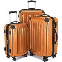 Hauptstadtkoffer Alex Set of 3 Luggages Suitcase Hardside Spinner Trolley Expandable TSA, Orange, Set