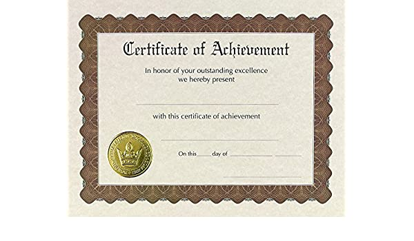 amazon great papers certificate of achievement印刷済み