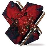 Galaxy S10 SC-03L ケース 手帳型 ポインセチア 花 フラワー 手帳 カバー ギャラクシー エス10 エスシー03エル 手帳型ケース 手帳型カバー 花柄 クリスマス [ポインセチア/t0755]