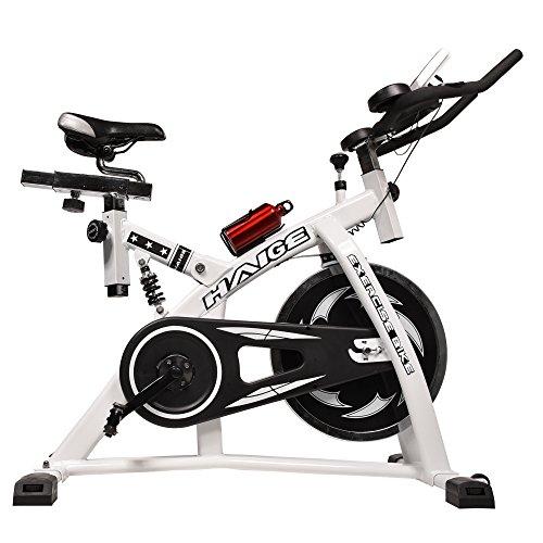 HAIGE フィットネスバイク スピンバイク HG-YX-5001 自宅で気軽に本格トレーニング カラー:ホワイト