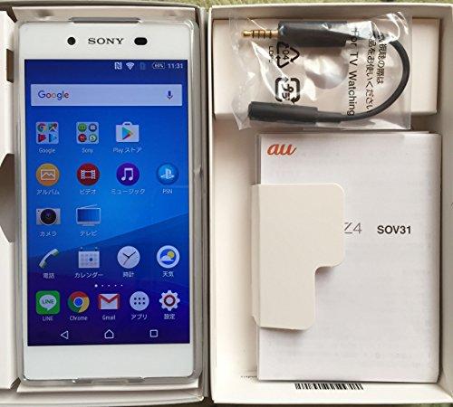 ◆SOV31  Xperia Z4 ホワイト・白色・WHITE au エクスペリア Z4◆