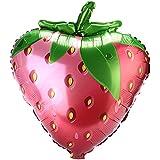 Rosepoem フルーツバルーン誕生日フォイルバルーンマイラーバルーンパーティー/結婚式/部屋の装飾(ストローバーリー)
