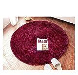 ラグ 丸いカーペット 円形マット シャギーラグ マイクロファイバー 柔らかい ふわふわ ラグマット 北欧シャギー 絨毯 丸洗い 滑り止め付 折り畳み可能 防音 ホットカーペット対応