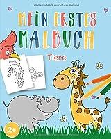 Mein erstes Malbuch Tiere: Malbuch Kinder ab 2  - Ueber 30 einfache tierische Malvorlagen fuer Kleinkinder - Malbuch Maedchen und Jungen | Mitbringsel Kindergeburtstag Gastgeschenke und Baby Geschenk